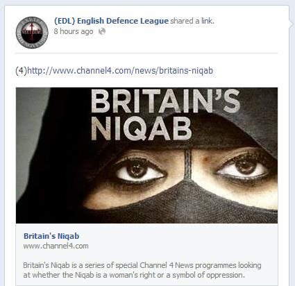 EDL Britain's Niqab