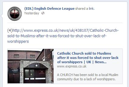 EDL Catholic Church sold to Muslims