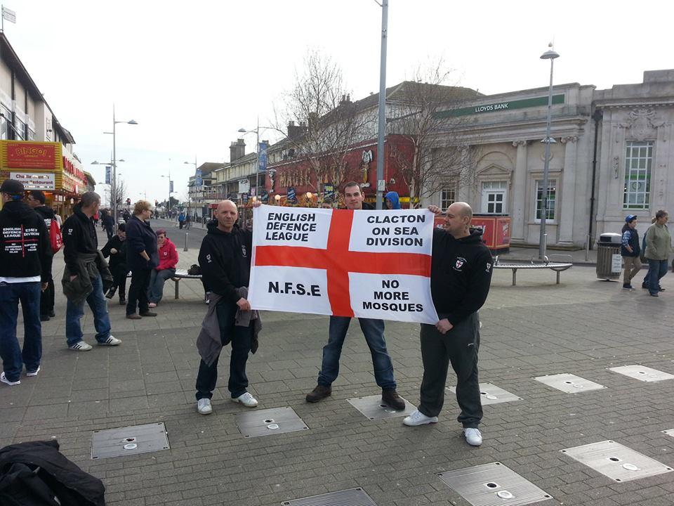 EDL Clacton anti-mosque protest