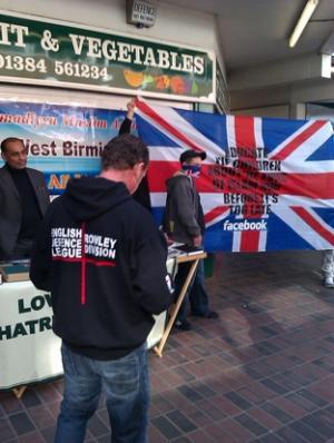 EDL Cradley Heath protest