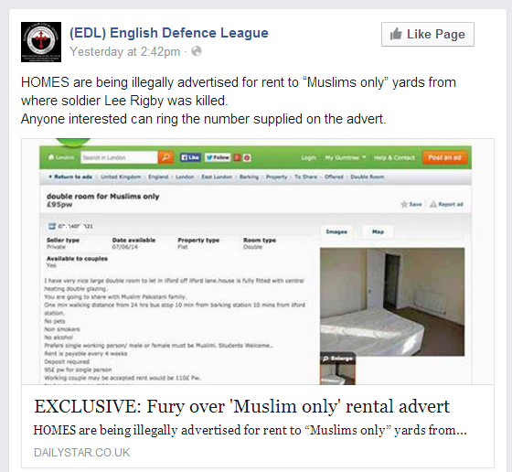 EDL Daily Star Muslim only rental report