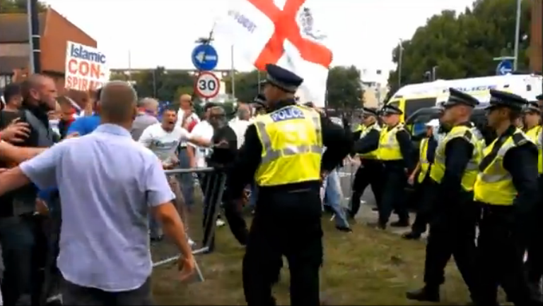 EDL Portsmouth protest