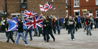EDL Shotton protest May 2011