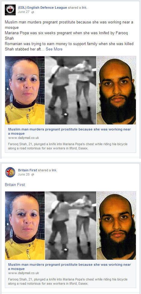 EDL and Britain First Farooq Shah