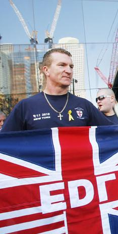 EDL at 9-11 protest