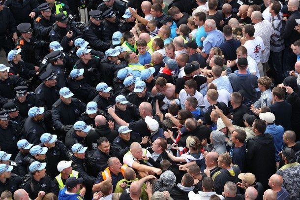 Members of the right-wing EDL (English D