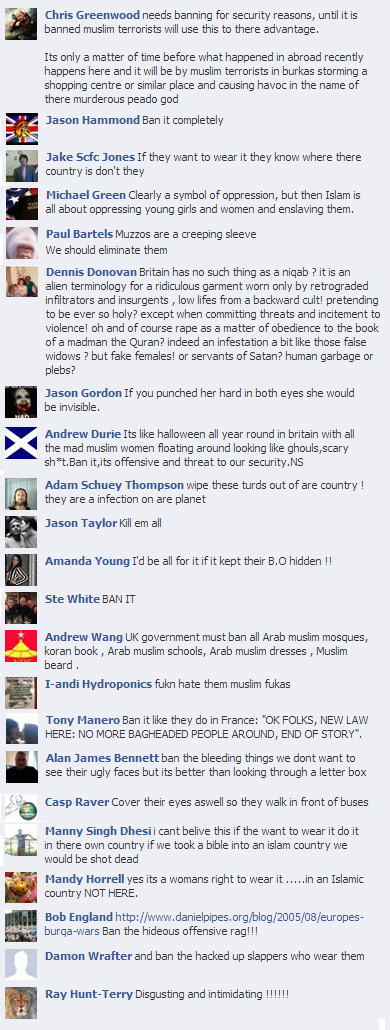 EDL comments on Channel 4 niqab reports