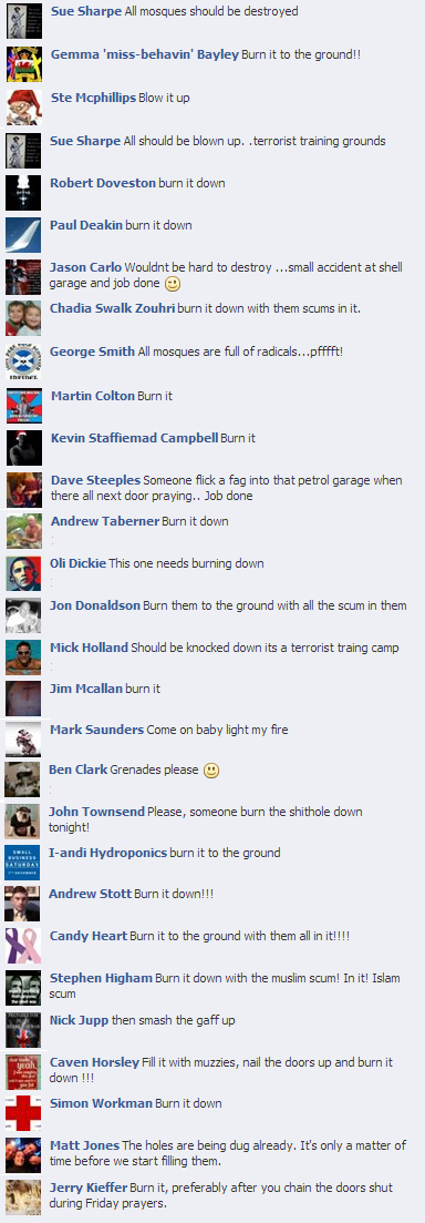EDL comments on Torygraph Lewisham Islamic Centre report