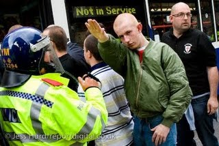 EDL fascist salute Birmingham
