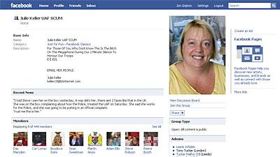 EDL incites hatred against Julie Keller