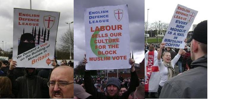 EDL placards Dudley