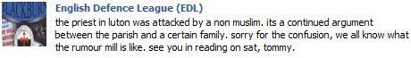 EDL rumour retracted