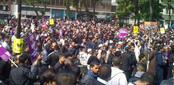 East London demonstration against EDL