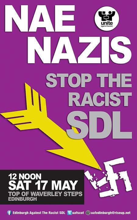 Edinburgh anti-SDL protest