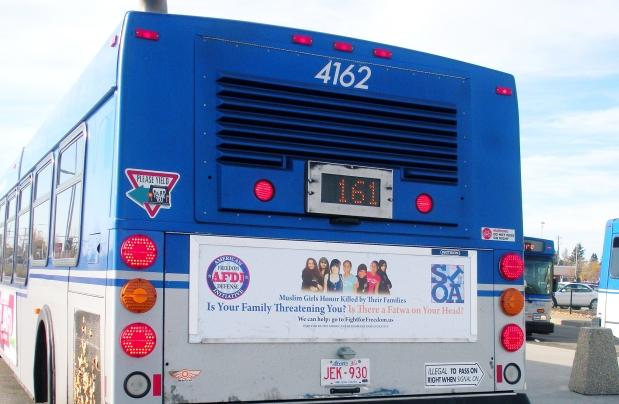 Edmonton bus with Geller ad