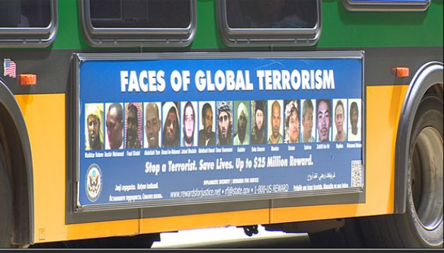 Faces of global terrorism ad