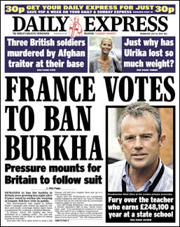 France Votes to Ban Burkha