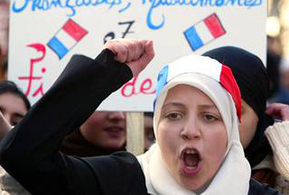 French+hijab+protest