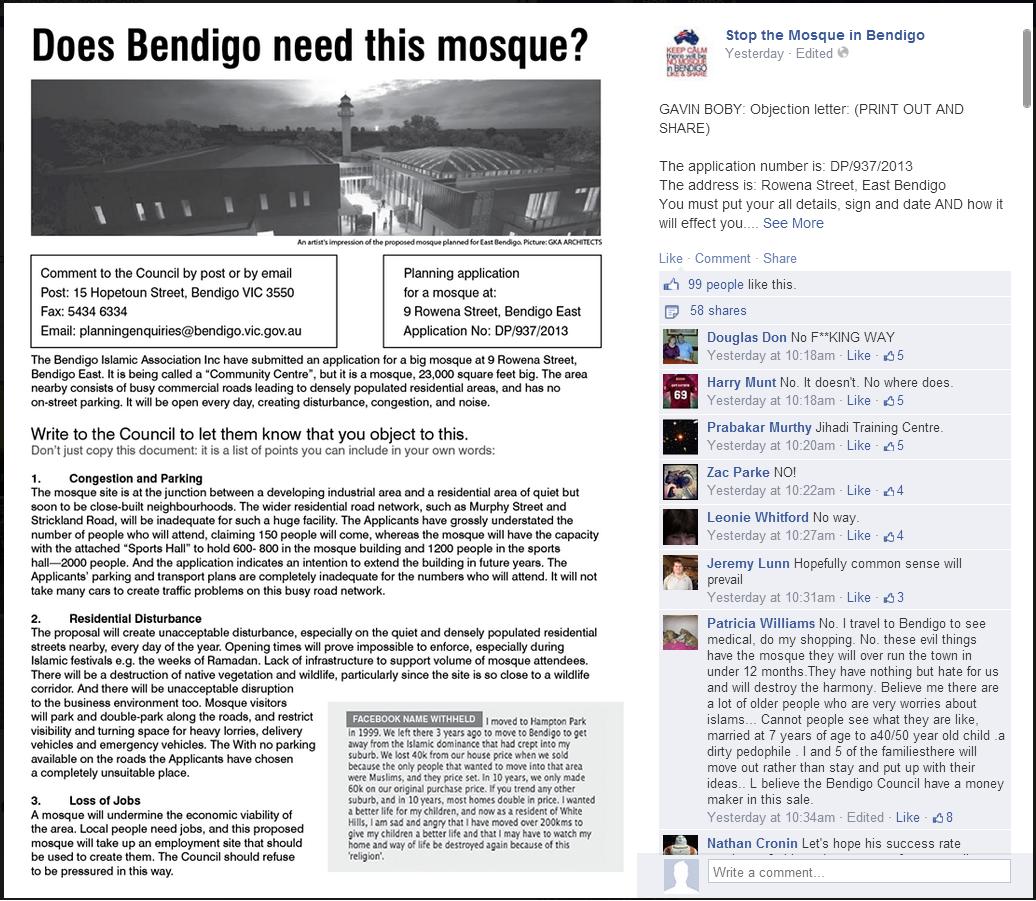 Gavin Boby Bendigo objection advice