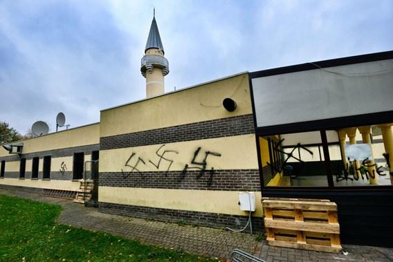 Genk mosque graffiti