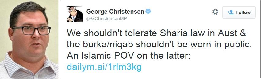 George Christensen and tweet