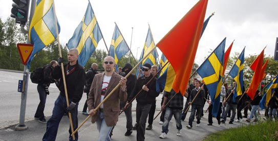 Goteborg anti-mosque protestors