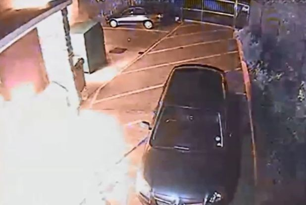 Grimsby Mosque arson CCTV