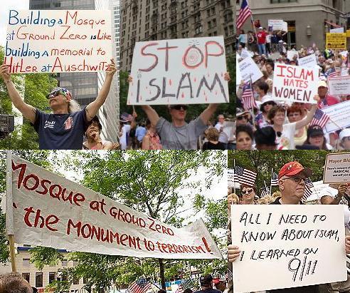 Ground Zero mosque protestors
