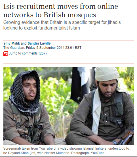 Guardian Isis recruitment moves to British mosques