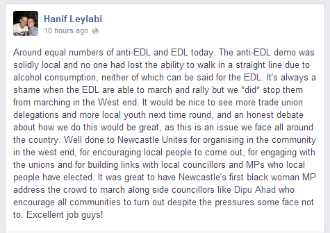 Hanif Leylabi Newcastle Unites report