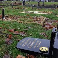 Harehills cemetery vandalised