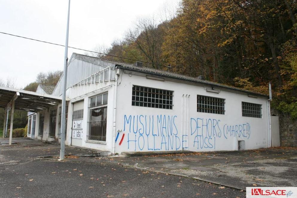 Haut-Rhin anti-Muslim graffiti