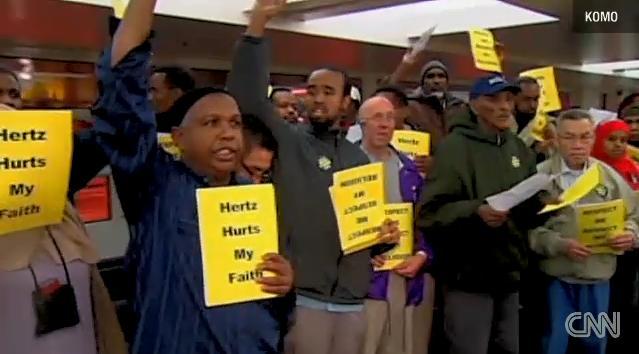 Hertz workers protest