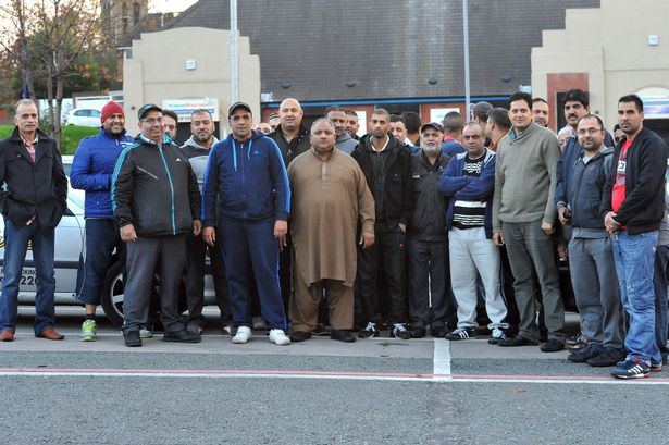 Heywood taxi drivers protest