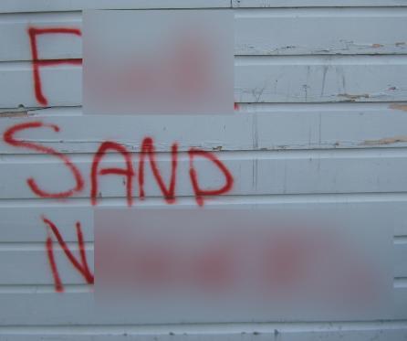 Hudson mosque graffiti