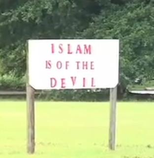 Islam is of the Devil sign