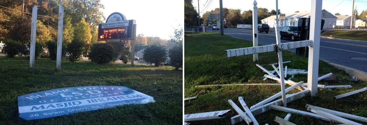 Islamic Society of Delaware vandalism
