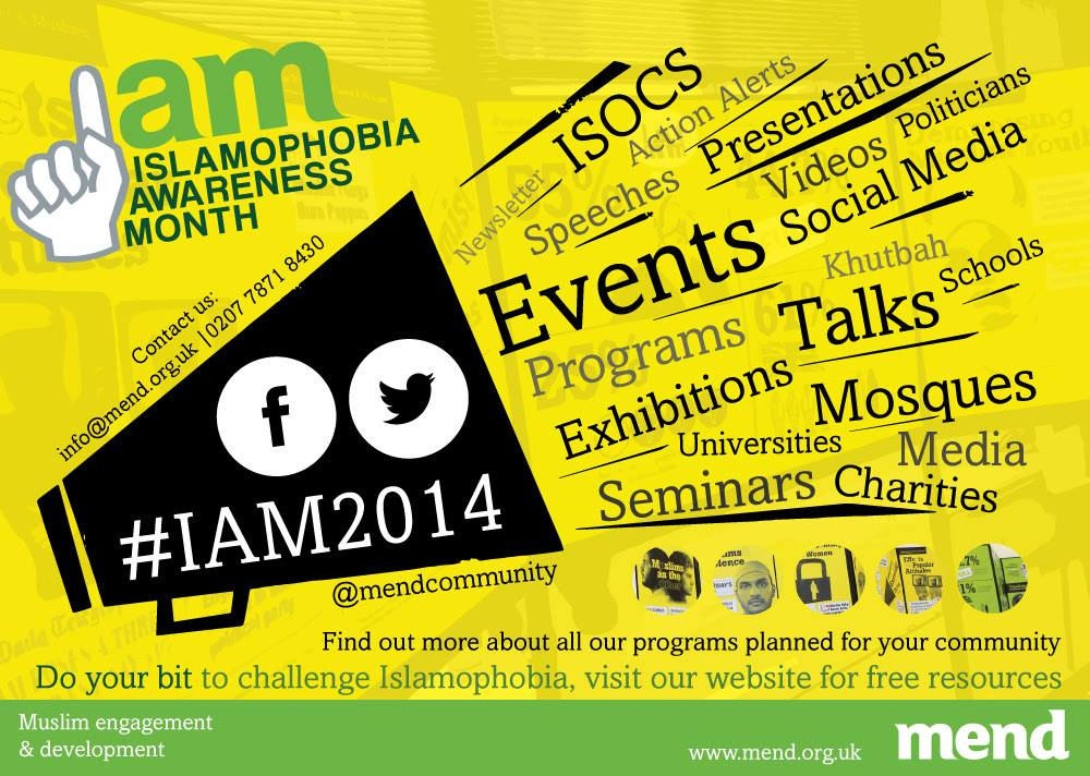 Islamophobia Awareness Month 2014