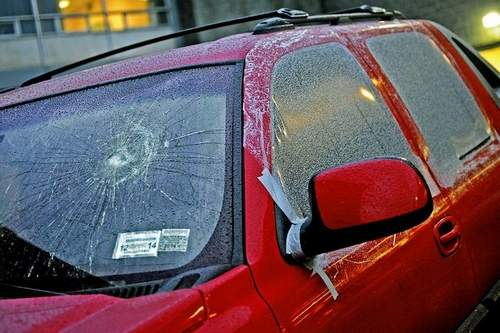 Issa Alzouma's car vandalised