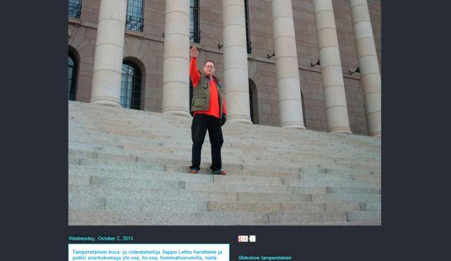 James Hirvisaari photo of Nazi salute