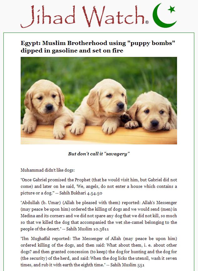 Jihad Watch Muslim Brotherhood puppy bombs (2)