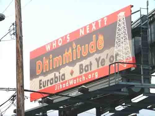 Jihad Watch dhimmitude billboard