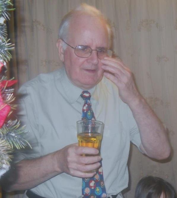 John Kearney with drink