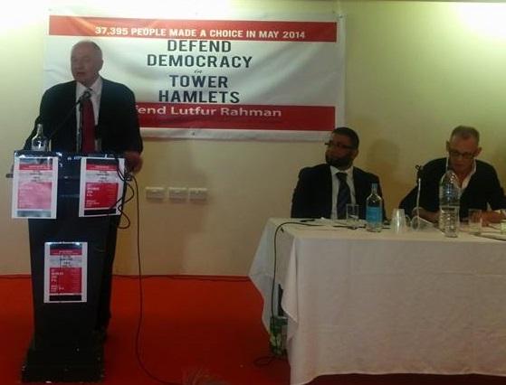 Ken at Lutfur solidarity meeting