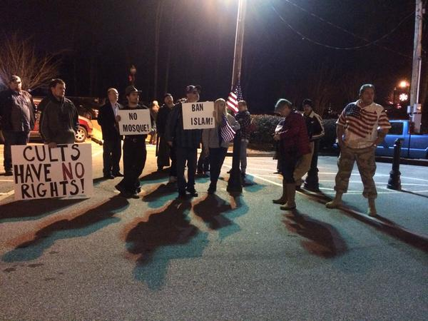 Kennesaw mosque protestors