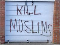 Kill Muslims graffiti