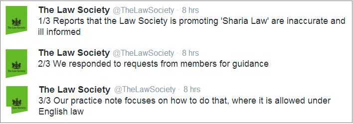 Law Society response to Sharia nonsense