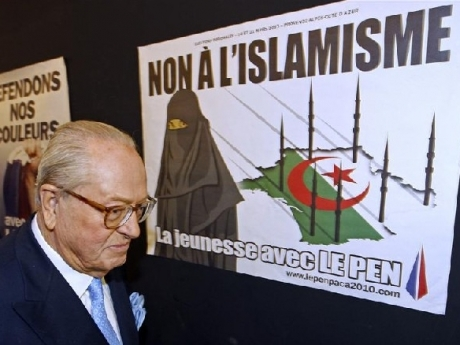 Le Pen and FN anti-Islam poster