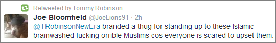 Lennon retweet fucking orrible Muslims