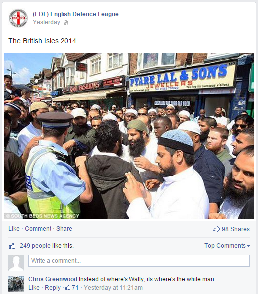 Luton Muslims confront Choudary's supporters